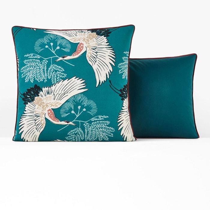 taie d 39 oreiller percale grues imprim canard la redoute. Black Bedroom Furniture Sets. Home Design Ideas