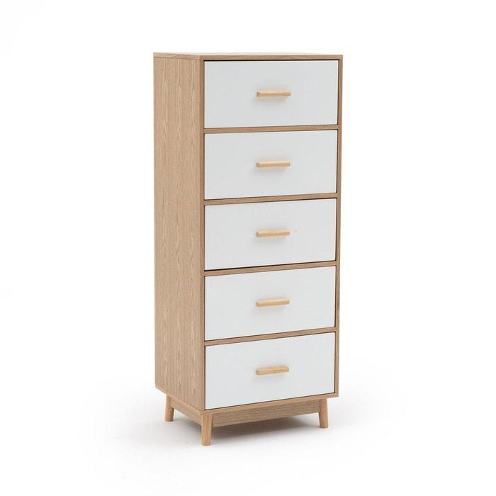 chiffonnier 5 tiroirs sheldon blanc la redoute interieurs la redoute. Black Bedroom Furniture Sets. Home Design Ideas