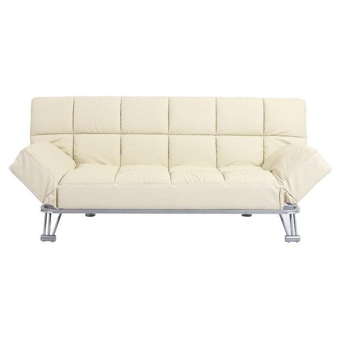 canap convertible cuir 3 places manhattan cuir de vache miliboo la redoute. Black Bedroom Furniture Sets. Home Design Ideas