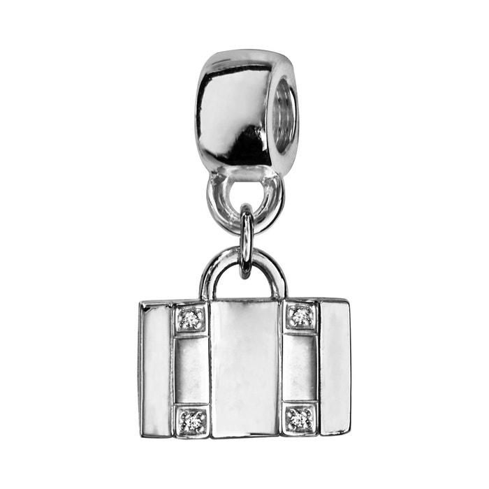 Acheter Pas Cher 2018 Unisexe Charm valise oxyde de zirconium argent 925 La Sortie Récentes Livraison Gratuite Nice LHvZs2M9V