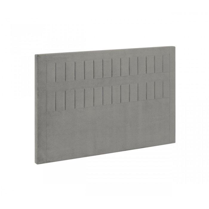 Tête de lit bultex stromboli tissé gris souris gris Bultex