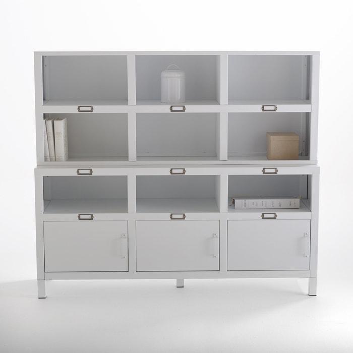 Image Buffet 3 portes acier, blanc mat Hiba La Redoute Interieurs