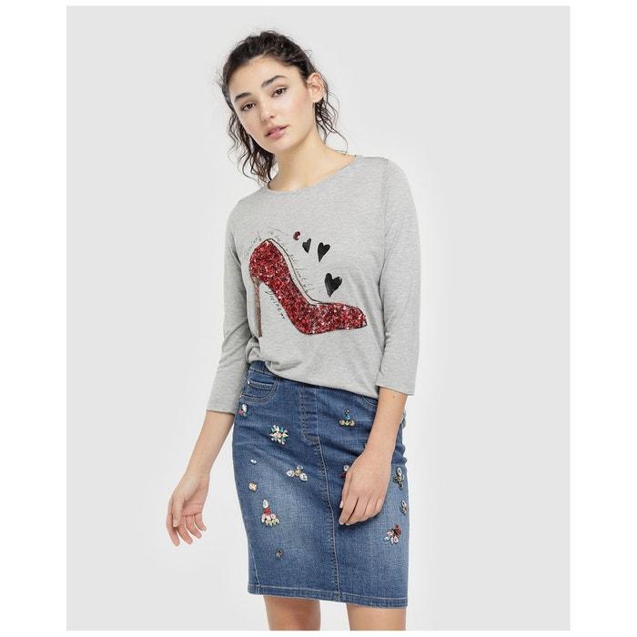 En Bijou Appliques Style Jupe Jean odxBeC