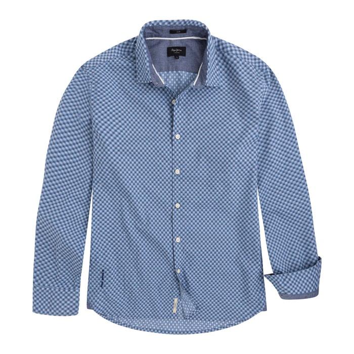 Camisa 243;n estampada recta 100 PEPE y algod MAYWARD JEANS fwCOqO