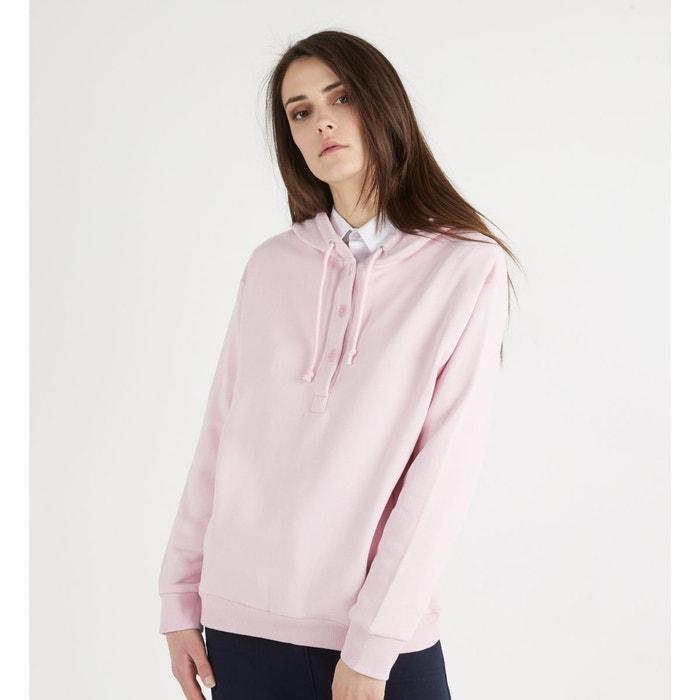 5226f306690c6 Sweat capuche natin coton droit rose clair Galeries Lafayette | La Redoute