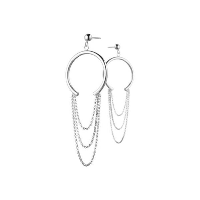 Boucles d'oreilles percées multichaines en argent 925, 5g argent Clio Blue | La Redoute