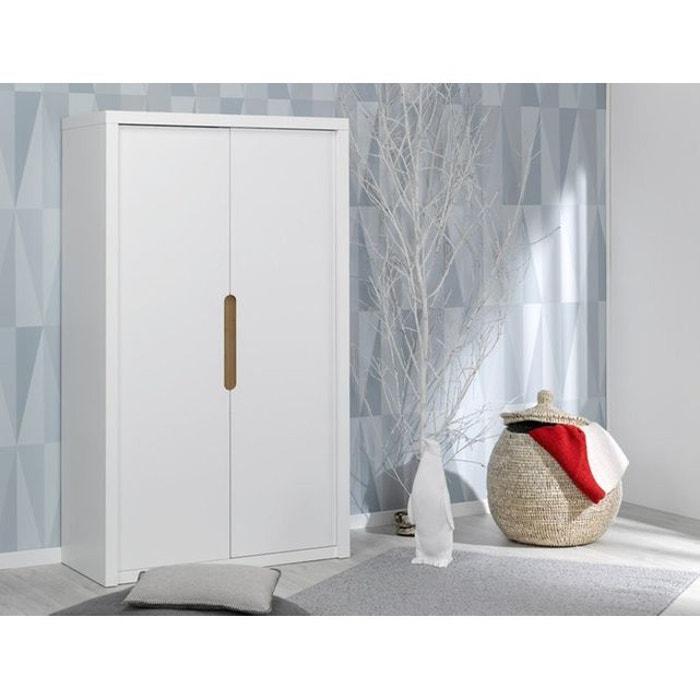 armoire 2 portes blanc blanc alfred et compagnie la redoute. Black Bedroom Furniture Sets. Home Design Ideas