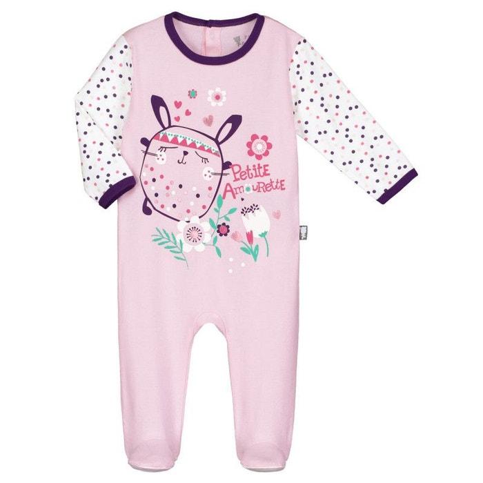 Pyjama bébé plumette rose Petit Beguin  1bc1aa943e5