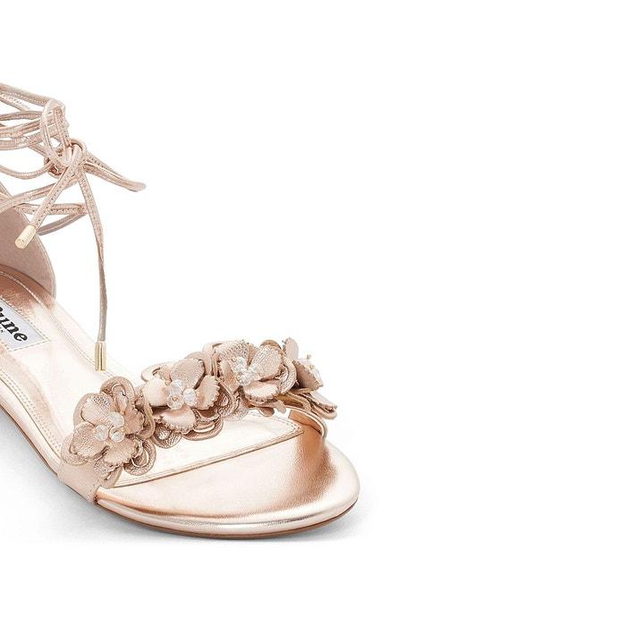 Sandales cuir plates nigella Dune London