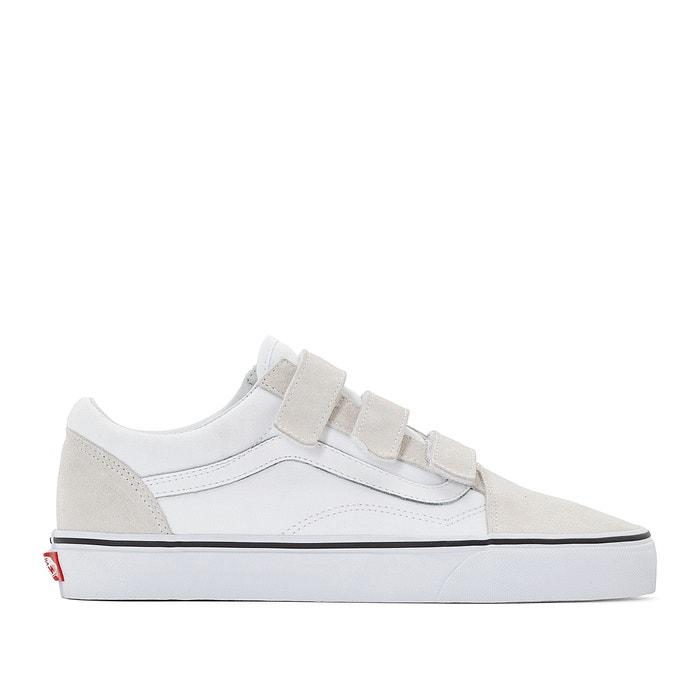 Zapatillas con cierre autoadherente ua old skool v blanco Vans  e19962a592f