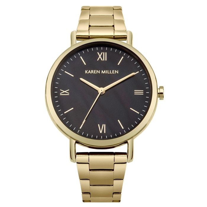 Montre femme analogique boitier rond 36 mm bracelet métal or Karen Millen | La Redoute Authentique En Ligne 8nlrK51g8M