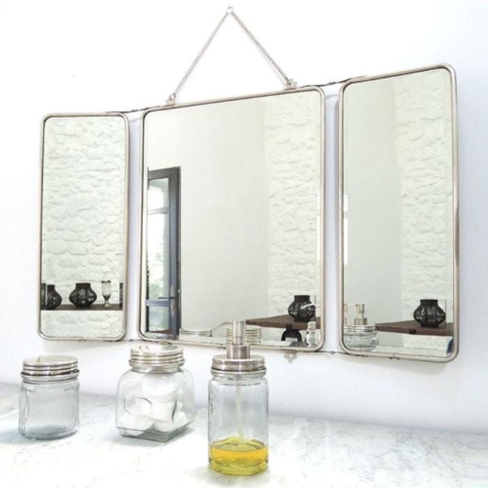 Miroir Barbier 3 Faces Chaumont Argent Maison Tilleul La Redoute