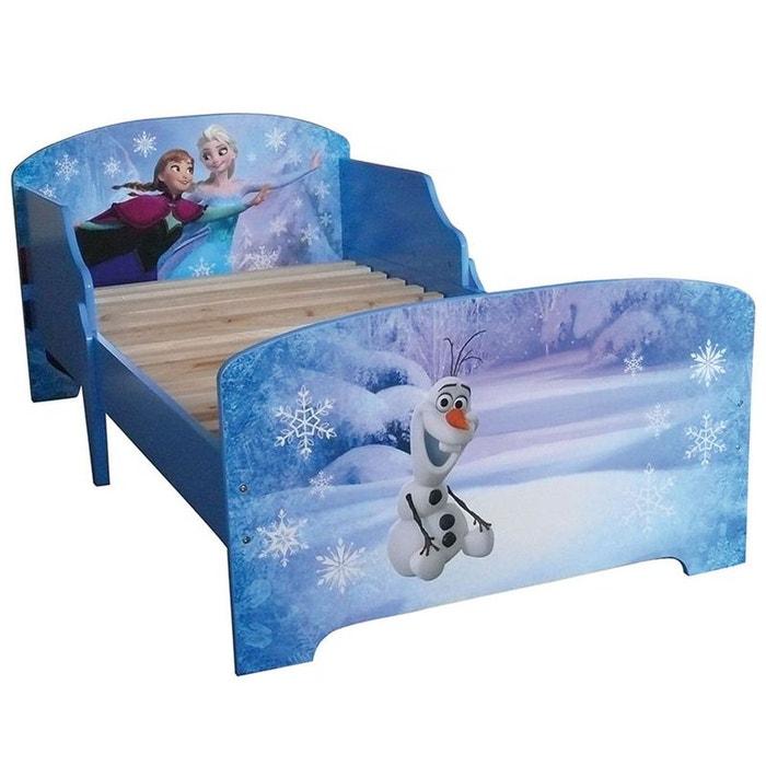 pack complet lit bleu reine des neiges lit matelas parure couette oreiller bleu walltastic. Black Bedroom Furniture Sets. Home Design Ideas