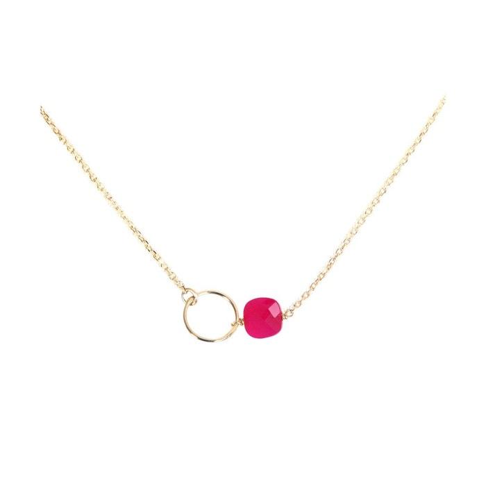 Collier doré onyx rose fidji rose framboise Caroline Najman | La Redoute Meilleur Choix WSJdpP1Gas