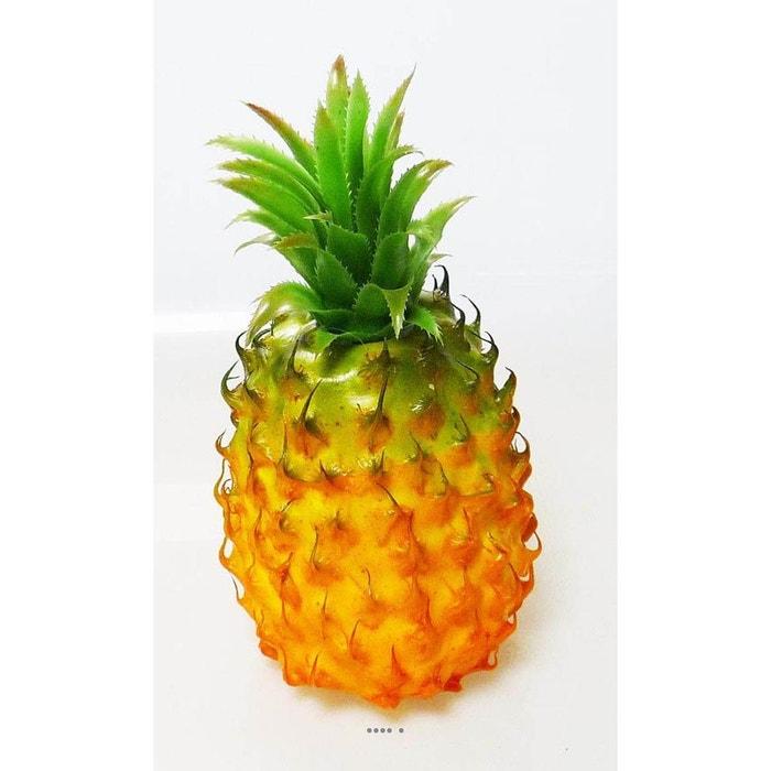 ananas fruit artificiel hauteur 29 cm et d 13 cm magnifique feuillage plastique artif deco la. Black Bedroom Furniture Sets. Home Design Ideas