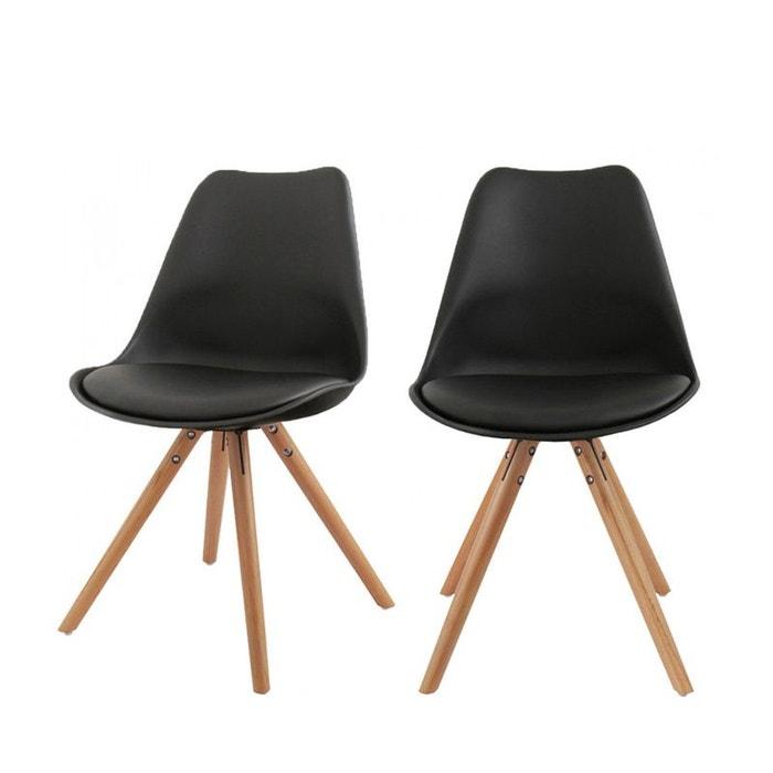 lot de 2 chaises design ormond round noir drawer la redoute. Black Bedroom Furniture Sets. Home Design Ideas