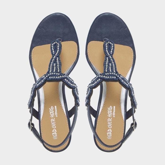 Sandales ornées de perles à entredoigt et petits talons compensés - naavi Head Over Heels By Dune