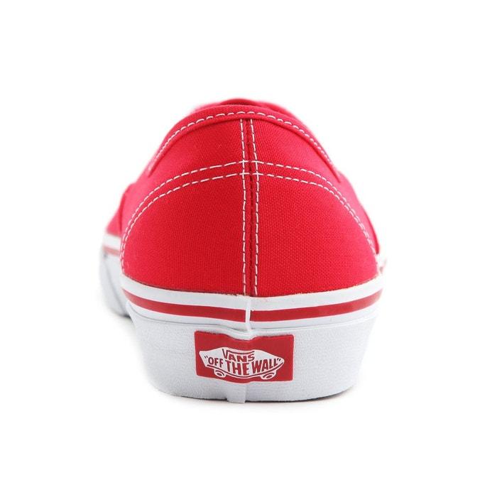 Baskets femme vans authentic toile femme rouge rouge Vans