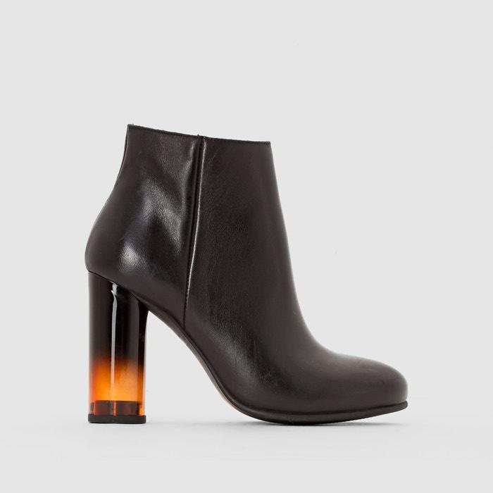 Image Boots cuir à talon fumé R studio