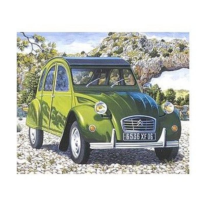 maquette voiture   citro u00ebn 2 cv verte heller