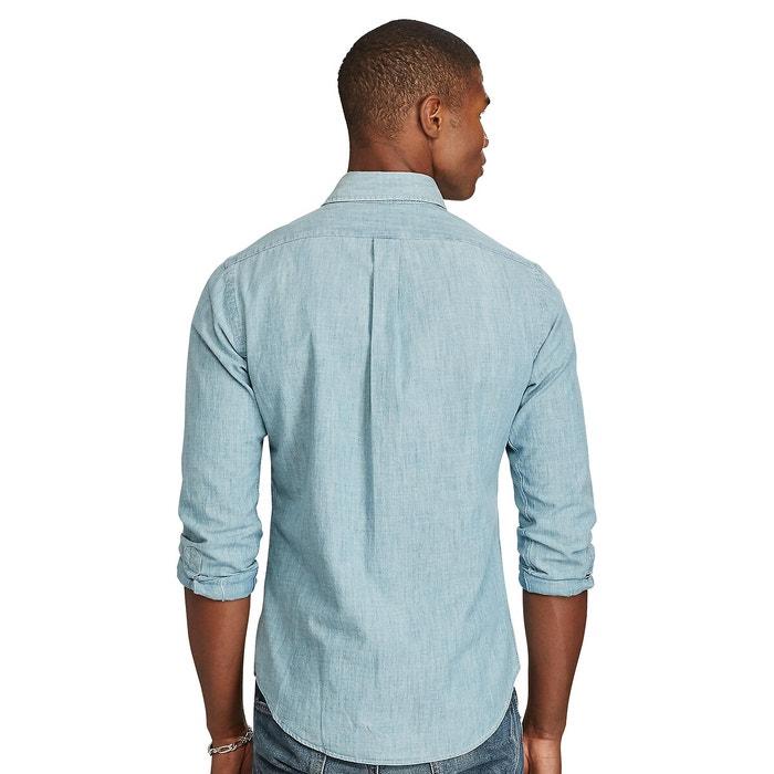 Slim hemd in chambray