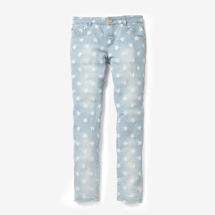 afbeelding Slim jeans met sterrenprint R essentiel