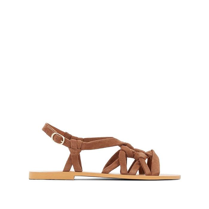 sandales plates cuir nou es r studio la redoute. Black Bedroom Furniture Sets. Home Design Ideas