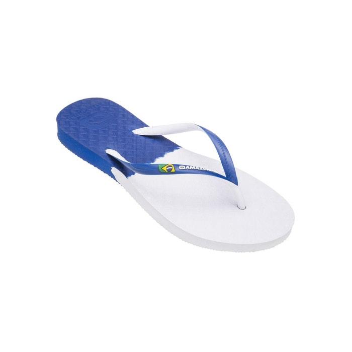 Amazonas Tongs Tongs femme Fun Brasil Bleu et Blanc