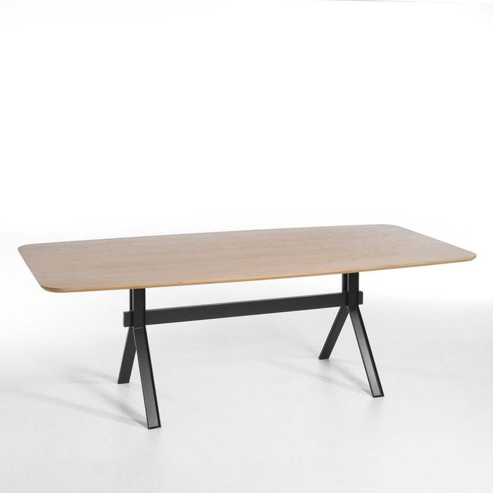 Table elphége, design e gallina bois chêne clair pieds noirs AmPm  La Redoute