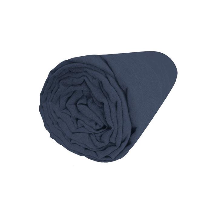 drap housse en lin bonnet 30 blanc cerise la redoute. Black Bedroom Furniture Sets. Home Design Ideas