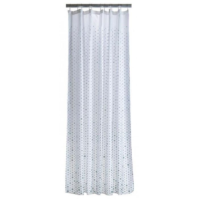 rideau de douche blanc pois vert polyester 200cm 180cm. Black Bedroom Furniture Sets. Home Design Ideas