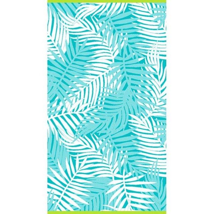 Drap de plage velours palme turquoise turquoise lasa international la redoute - La redoute drap de plage ...