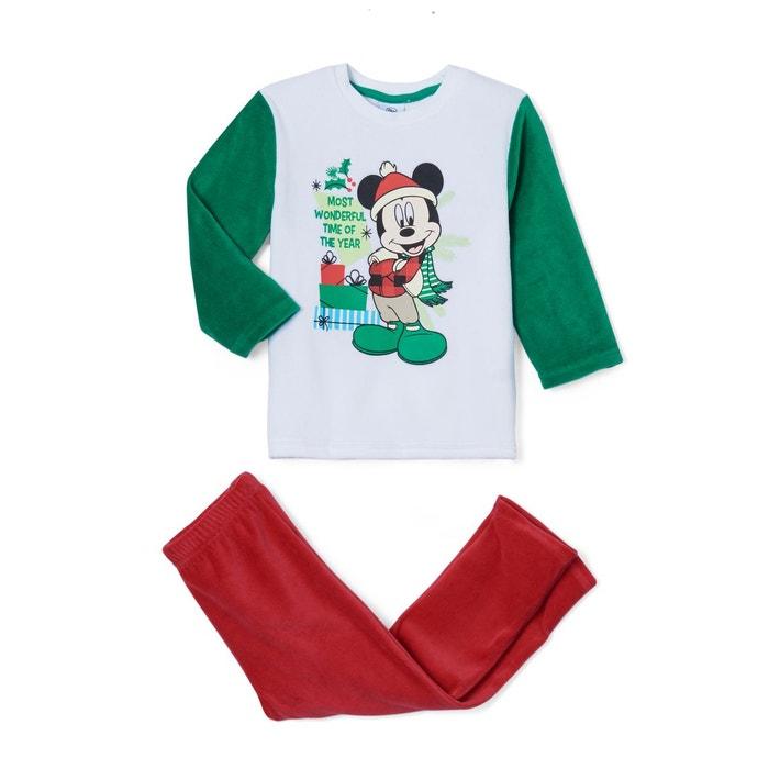 483aa9185d5c0 Pyjama de noël 2 pièces velours 2 - 6 ans vert rouge Mickey Mouse ...