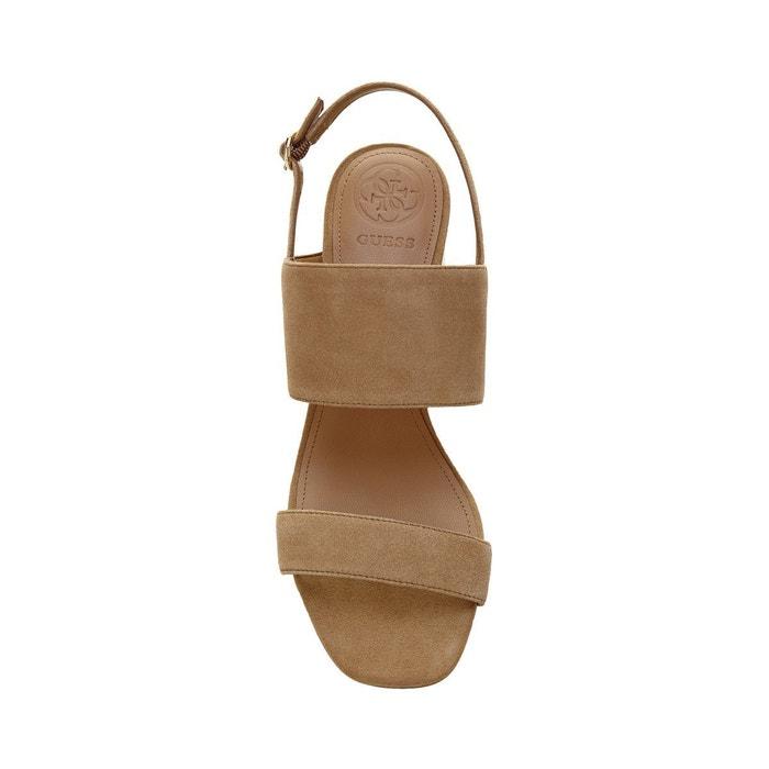 Sandales sedonne daim beige Guess