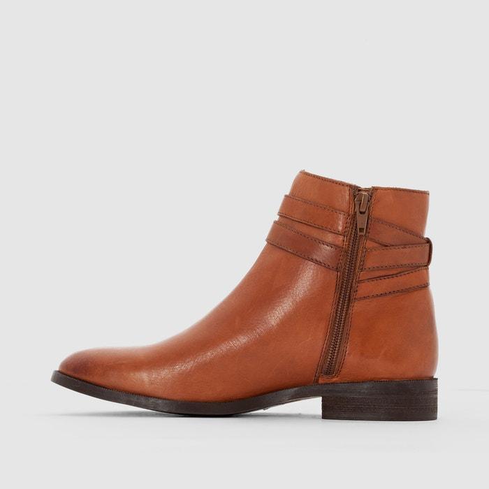 Parfait À Vendre La Redoute Boots cuir bride à boucle Acheter Pas Cher Authentique 0QknF