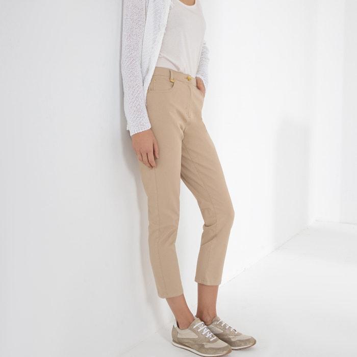 Pantalón recto tobillero de algodón stretch Anne Weyburn  dc16cad0d0d8