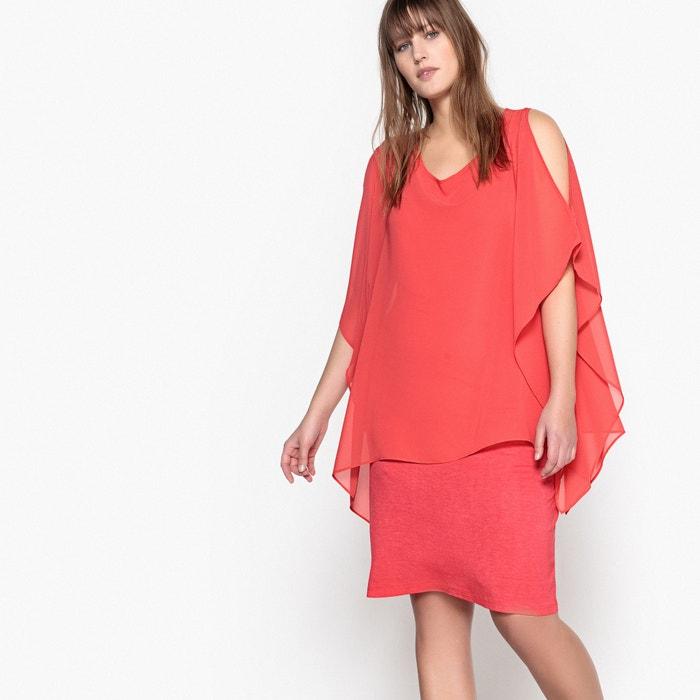 Dress with Voile Overlay  CASTALUNA image 0