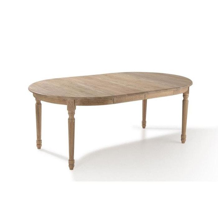 Table ronde extensible bois chêne clair 120-200 medicis bois naturel ...