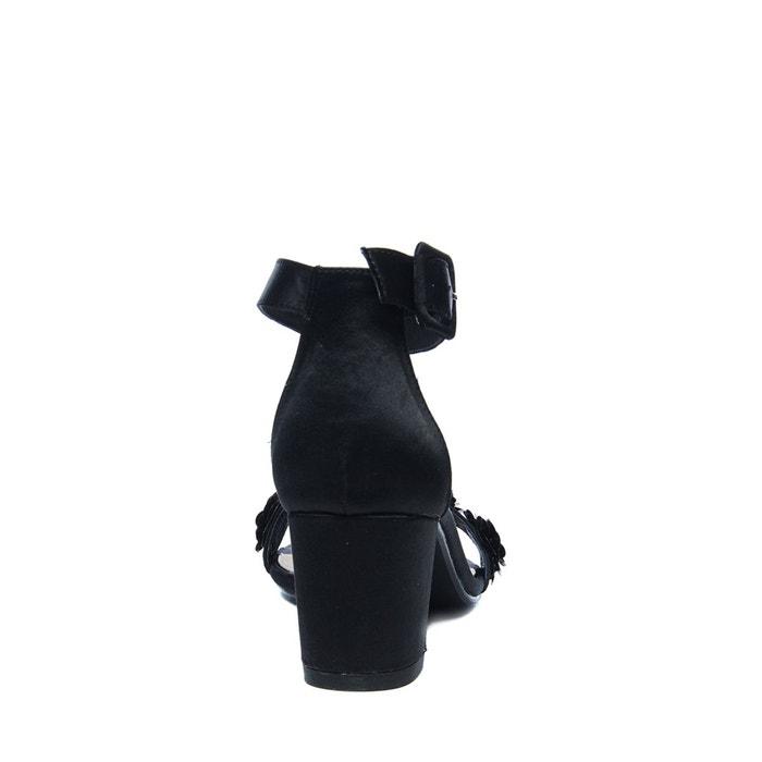 Escarpins avec paillettes fleur noir Sacha