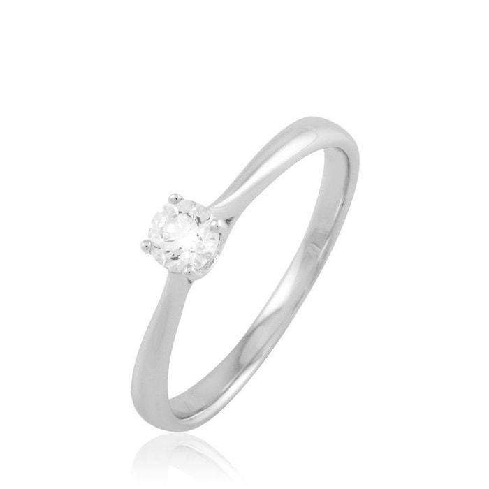 Bague solitaire fiona or blanc diamant blanc Histoire D'or | La Redoute Vente Style De Mode En Ligne H7zNj