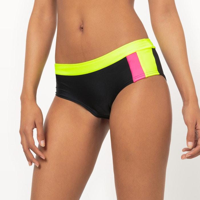 Image Fluorescent Three-Tone Shorty-Style Bikini Bottoms Sophie Malagola x La Redoute