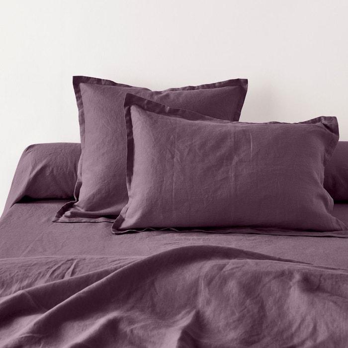 Taies d 39 oreiller unies en pur lin lav la redoute - Linge maison la redoute ...