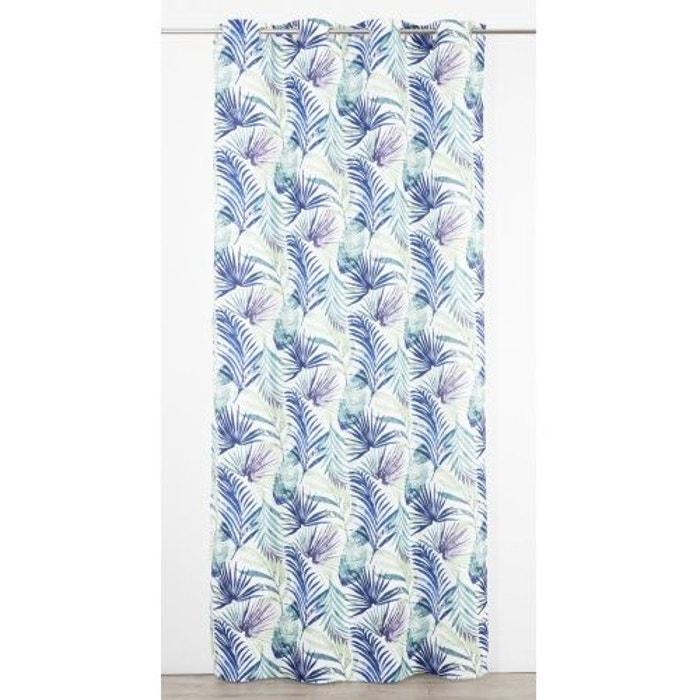 Rideau En Toile A Imprimes Tropical Bleu Home Maison La Redoute