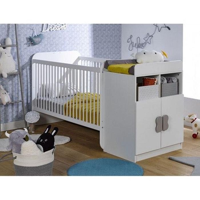 lit b b volutif mathis blanc 70x140 blanc alfred et compagnie la redoute. Black Bedroom Furniture Sets. Home Design Ideas
