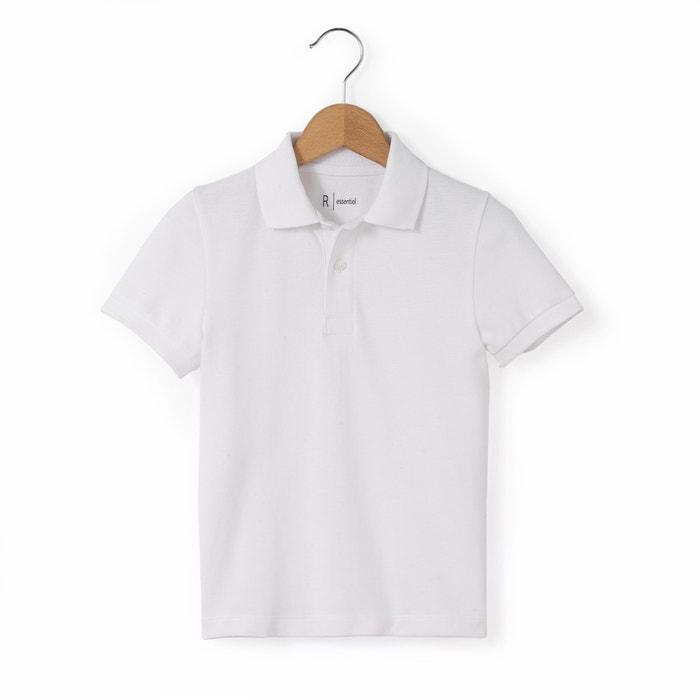 Plain Cotton Piqué Polo Shirt: 3-12 Years