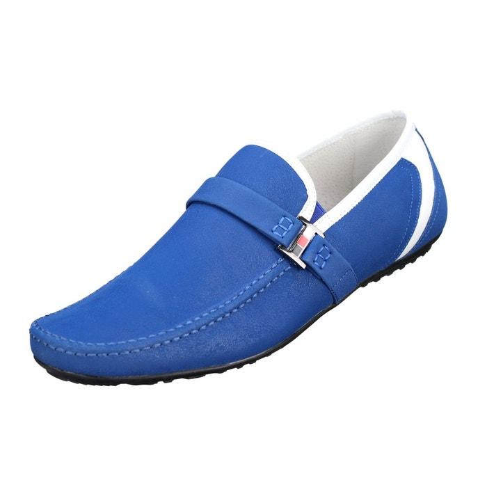 Chaussure derbie à boucles bleu Uomo