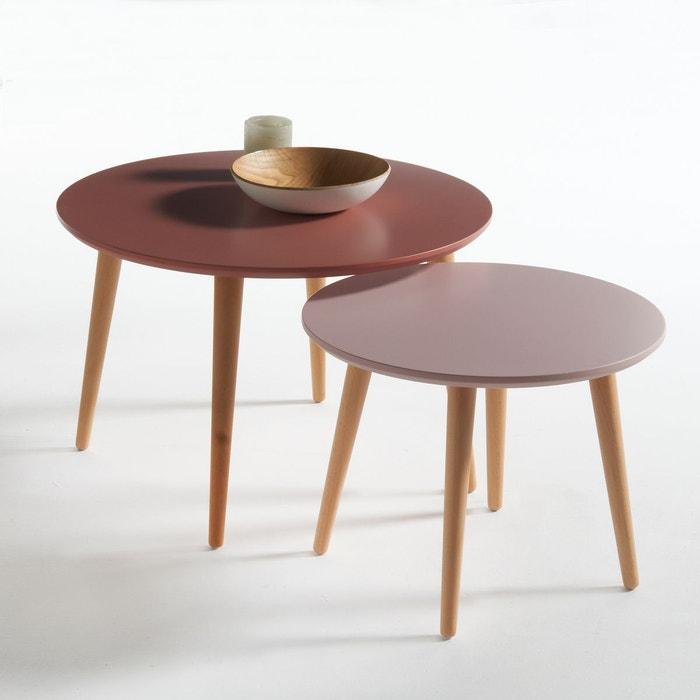 table basse gigogne, jimi (lot de 2) la redoute interieurs | la