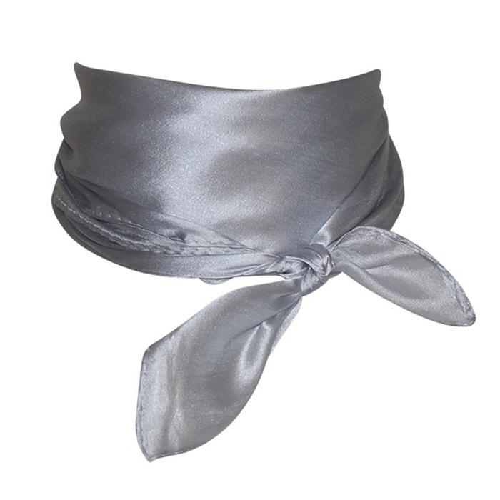 Foulard carré gris Chapeau-Tendance   La Redoute d382459cfed