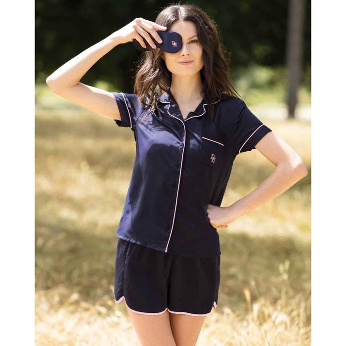 Satin Pyjama Shirt and Shorts Set  HECHTER STUDIO image 0