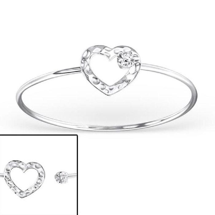 Bracelet jonc 18 cm coeur oxyde de zirconium blanc argent 925 couleur unique So Chic Bijoux | La Redoute Réduction Ebay GnuLZbAR